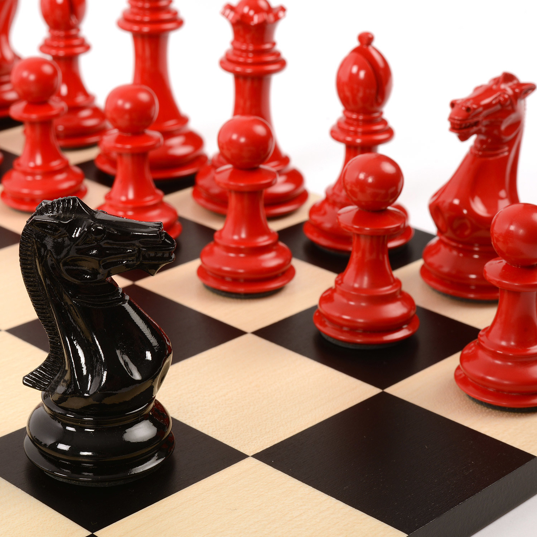 Bold Chess Set Clic Red Shadow Black