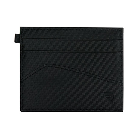 Zero 2 Slim Card Wallet // Carbon Fiber Leather