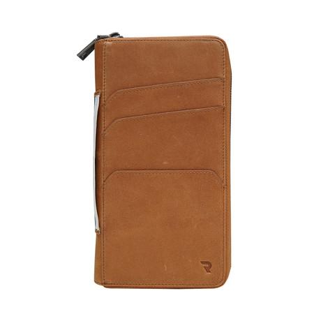 Zero 2 Slim Travel Wallet // Caramel Tan Leather