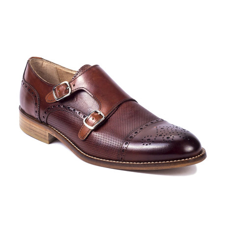 Caruma Leather Monkstrap // Mahogany