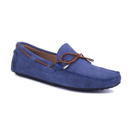 Sunder Suede Moccasin // Blue (Euro: 39)