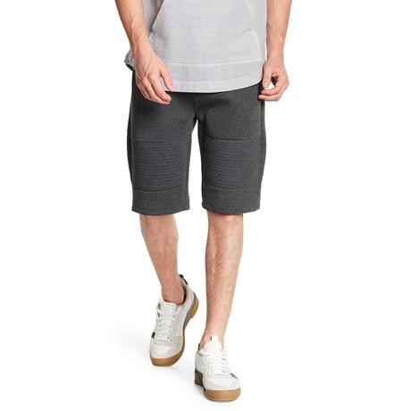 Modern Zipper Pockets Short // Dark Grey
