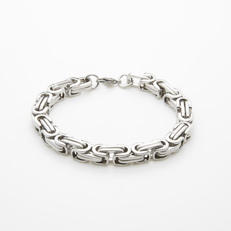Stainless Steel Chain Bracelet // Silver