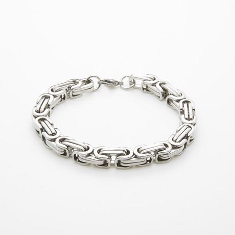 Jean Claude Jewelry // Stainless Steel Chain Bracelet // Silver