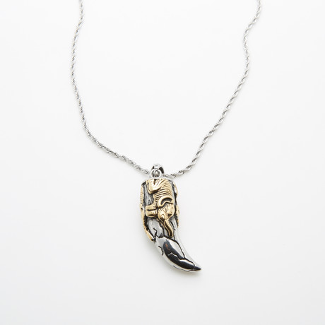 Good Luck Elephant Necklace // Silver + Gold