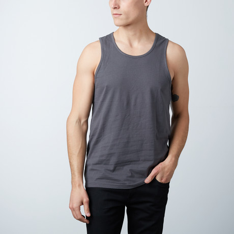 Ultra Soft Semi-Fitted Tank // Silver (S)