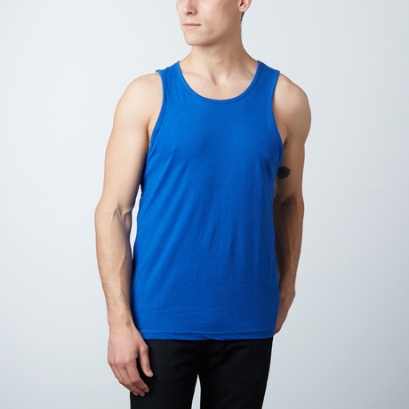Ultra Soft Semi-Fitted Ringer Tank // Black + Heather Gray (S)