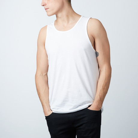 Ultra Soft Semi-Fitted Tank // White (S)