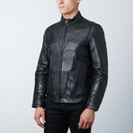Batman Padded Motorcycle Leather Jacket // Black (2XL)
