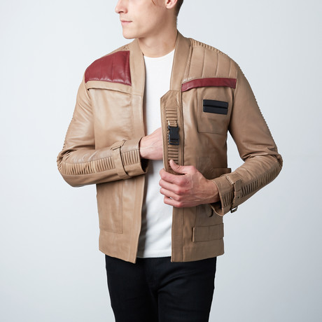 Finn Distressed Leather Jacket // Weathered Beige (L)