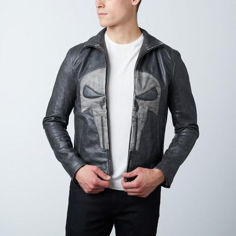Punisher Leather Jacket // Black (XS)