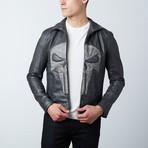 Punisher Skull Leather Jacket // Black (M)