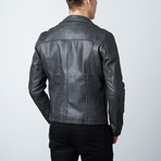Punisher Skull Leather Jacket // Black (XS)