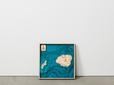 Photo of Tahoe Wood Maps Carved 3D Maps Of Iconic Locales Kauai // Unframed by Touch Of Modern