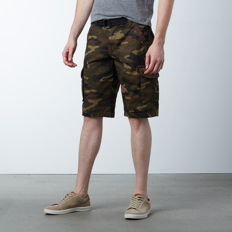 Solid Shorts // Brown Camo