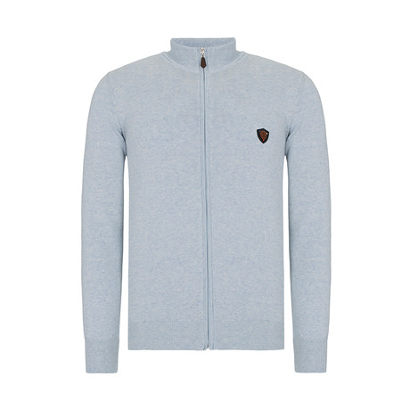 Zip-Up Sweater // Blue