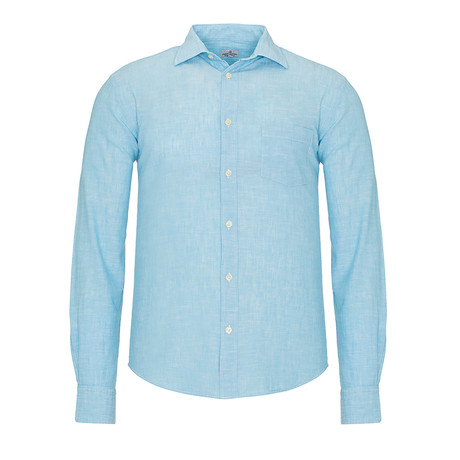 Linen Weave Shirt // Turquoise