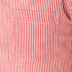Stripe Weave Shirt // Dark Red (L)
