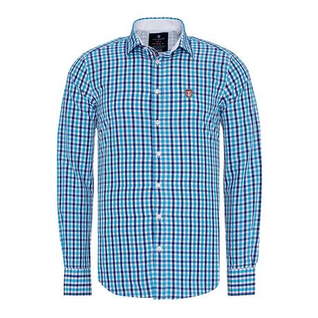 Plaid Shirt // Sax (XL)