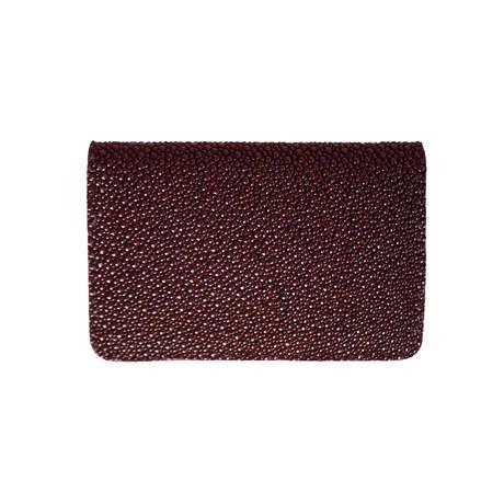Stingray Bifold Wallet (Navy Blue Stingray // Black Suede)