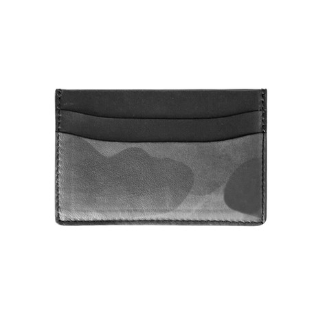 Army Lamb Card Holder (Army Lamb Khaki Leather)