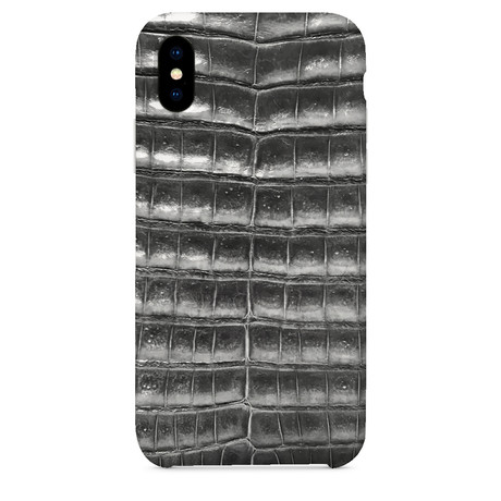 Genuine Crocodile iPhone Case // Gray (iPhone 7/8)