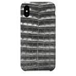 Genuine Crocodile iPhone Case // Gray (iPhone 7/8)