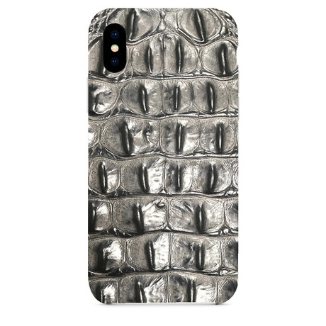 Embossed Crocodile 1 iPhone Case // Gray (iPhone 7/8)