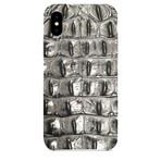 Embossed Crocodile 1 iPhone Case // Gray (iPhone 7/8)
