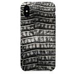 Embossed Crocodile 2 iPhone Case // Black + Gray (iPhone 7/8)