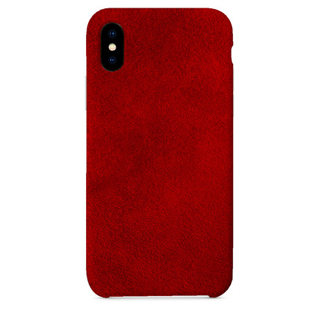 Suede iPhone Case // Red