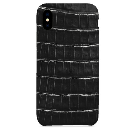 Genuine Crocodile iPhone Case // Black (iPhone 7/8)