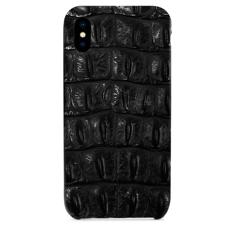 Embossed Crocodile 1 iPhone Case // Black (iPhone 7/8)