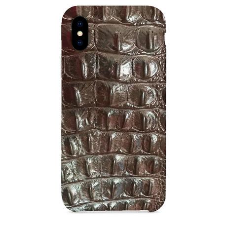 Embossed Crocodile 1 iPhone Case // Brown