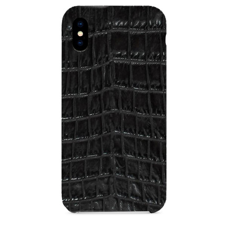 Embossed Crocodile 2 iPhone Case // Black (iPhone 7/8)