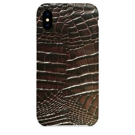 Embossed Crocodile 2 iPhone Case // Brown (iPhone 7/8)