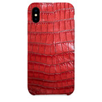 Embossed Crocodile 2 iPhone Case // Red (iPhone 7/8)