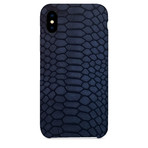 Embossed Python iPhone Case // Navy (iPhone 7/8)