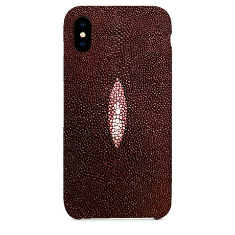 Stingray Eye iPhone Case // Burgundy (iPhone 7/8)