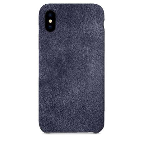 Suede iPhone Case // Navy