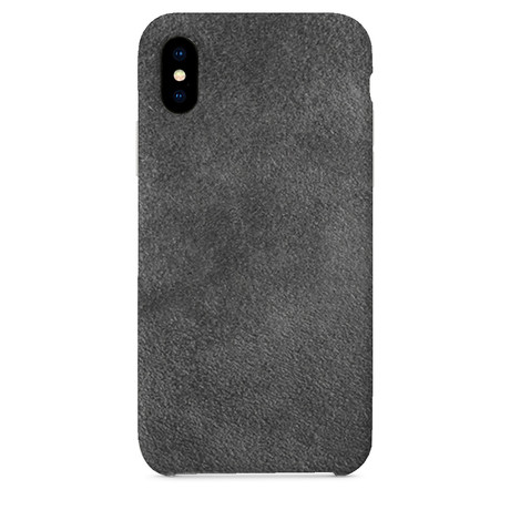 Suede iPhone Case // Grey