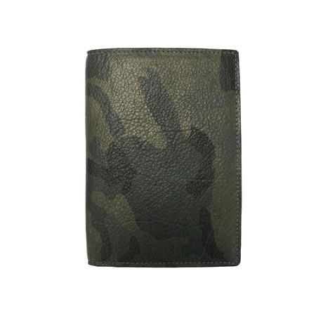Passport Holder (Army Lamb Khaki Leather)