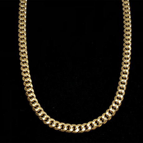 "Thick Miami Cuban Chain Necklace (24""L)"