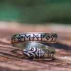 Ouroboros + Elder Futhark Runes Ring (10)