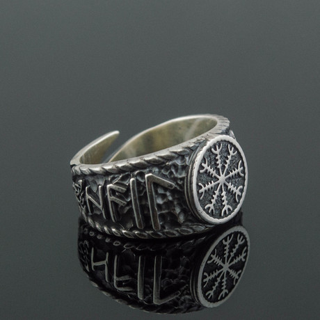 Viking Collection // Helm of Awe + Hail Odin Runes Ring (5)