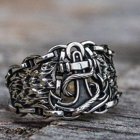 Sailor's Collection // Anchor Ring // Silver (6)
