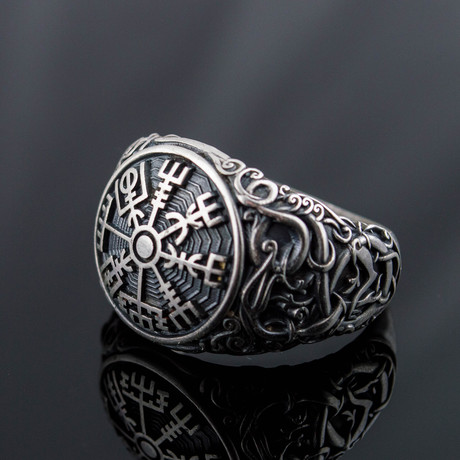 Viking Collection // Urnes Ornament + Vegvisir Ring (5)