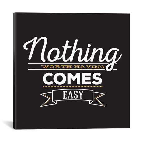 """Nothing Comes Easy IV // 5by5collective (18""""W x 18""""H x 0.75""""D)"""