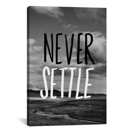 """Never Settle // Leah Flores (26""""W x 18""""H x 0.75""""D)"""