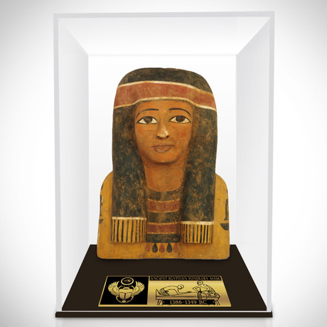 Ancient Egyptian Authentic Large Female Funerary Mask // Museum Display